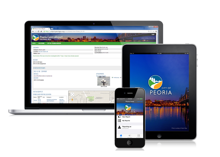 CSE Software Inc. Develops Peoria Cares Mobile App and uReport Web Application