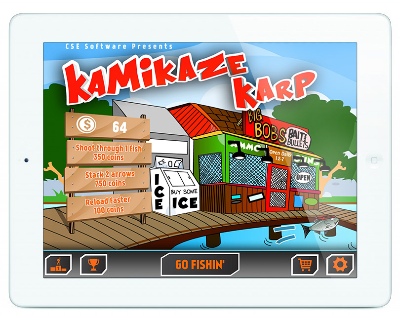 Kamikaze Karp iPad Home Screen