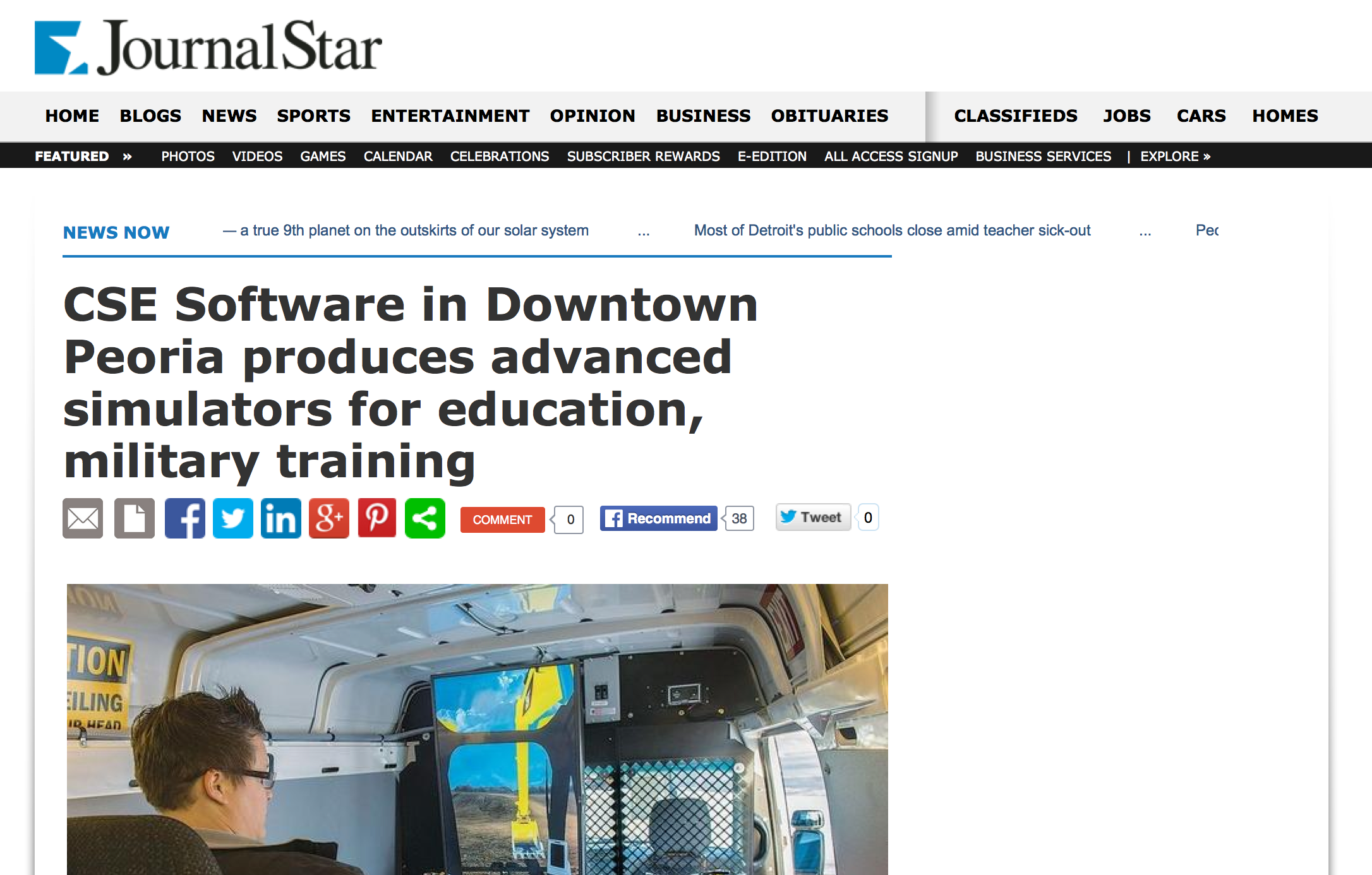 CSE Software's simulation development is in the news!