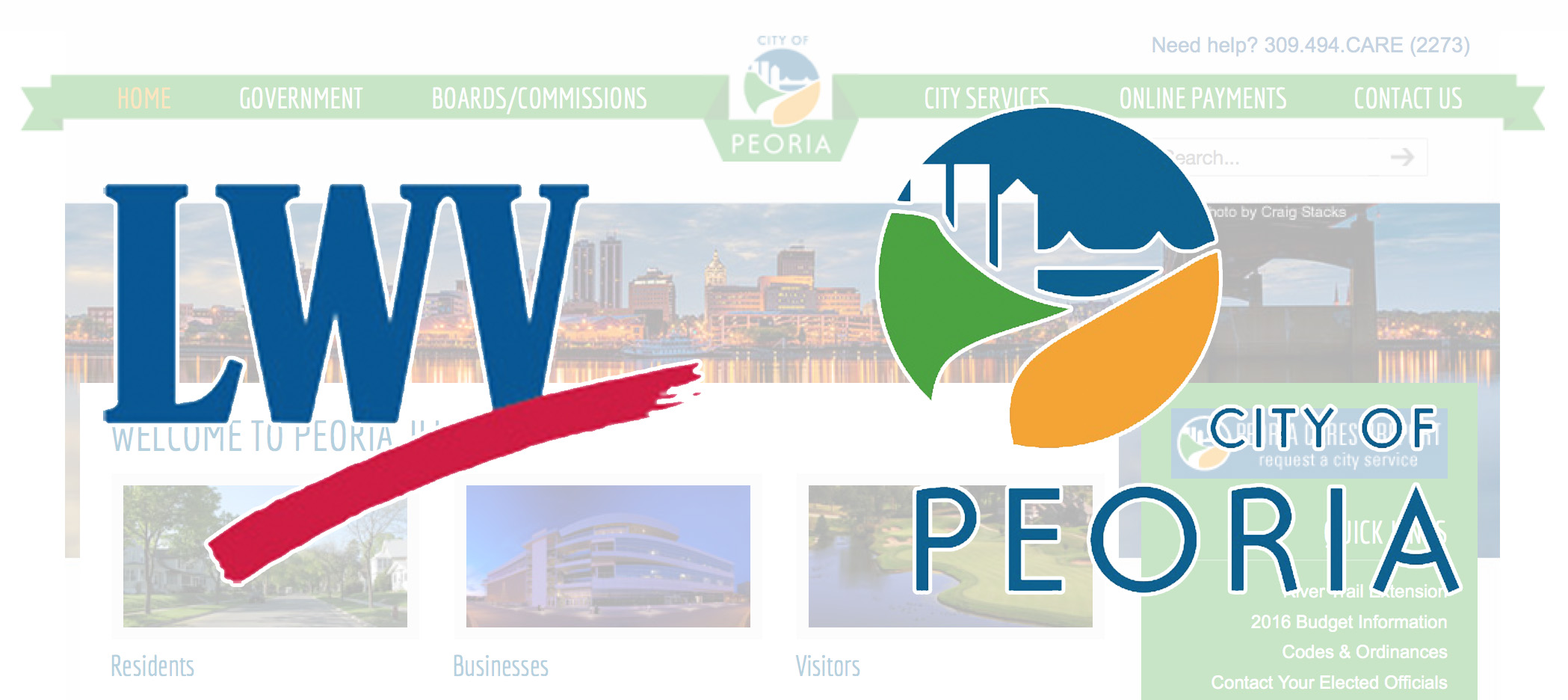 """CITY OF PEORIA WEBSITE RECEIVES """"A"""" RATING"""